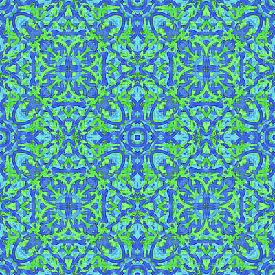Digital Art - T U E -day- -multi-pattern- by Coded Images
