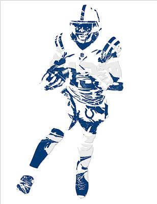 Mixed Media - T Y Hilton Indianapolis Colts Pixel Art 1 by Joe Hamilton