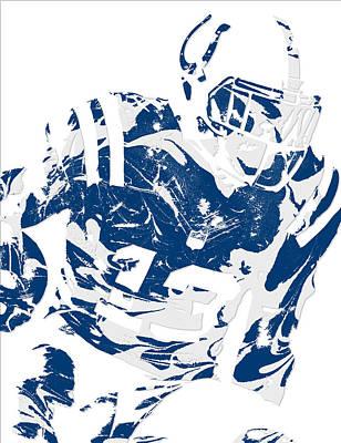 Mixed Media - T Y Hilton Indianapolis Colts Pixel Art 2 by Joe Hamilton