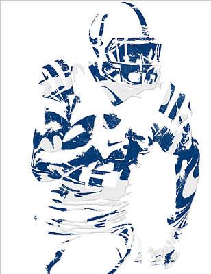 Mixed Media - T Y Hilton Indianapolis Colts Pixel Art 3 by Joe Hamilton