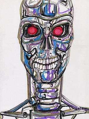 The Terminator Painting - T2 by John Sodja