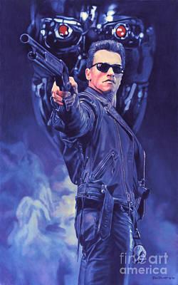 Schwarzenegger Painting - T2 Terminator by Bill Pruitt