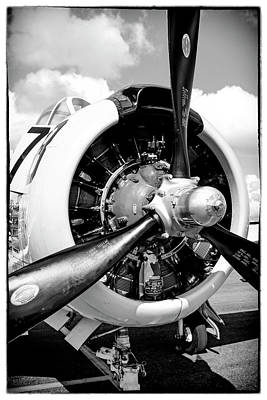 Photograph - T28 Wright R1820 by Chris Smith