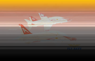Art Print featuring the digital art T45 Kiss-off Wt Wings by Mike Ray