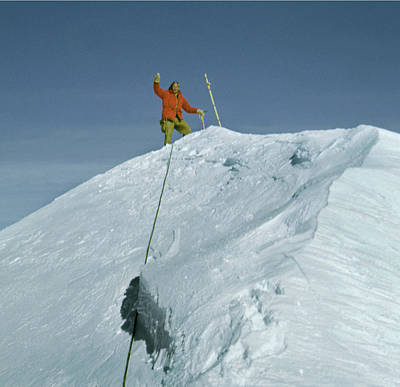 Photograph - T501319be Ed Cooper On Denali Summit by Ed Cooper Photography