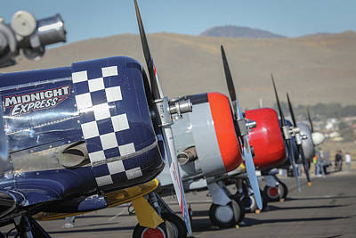 Photograph - T6 Flight Line At Reno Air Races by John King