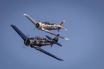 Photograph - T6s At Reno Air Races by John King