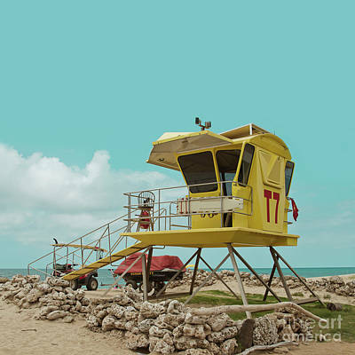Photograph - T7 Lifeguard Station Kapukaulua Beach Paia Maui Hawaii by Sharon Mau
