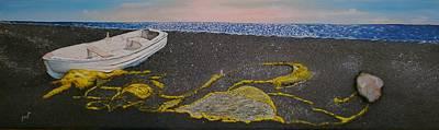 Balck Art Painting - Ta Dihtia by Maria Woithofer