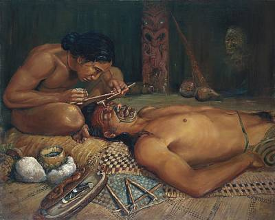 Ta Moko Art Print by Peter Jean Caley