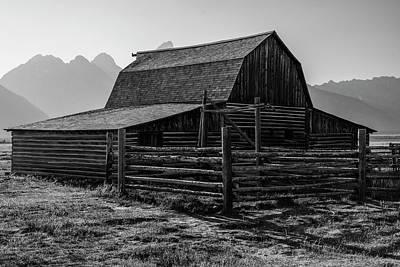Photograph - T.a. Moulton Barn Grand Tetons Close Up by John McGraw