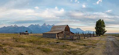 Photograph - Ta Moulton Barn In Morning  by John McGraw