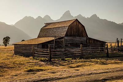 Photograph - T.a Moulton Barn Sunset by John McGraw