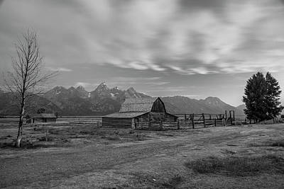Photograph - Ta Moulton Barn With Road  by John McGraw