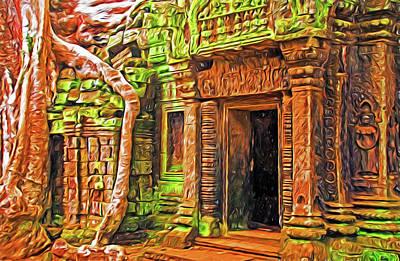 Digital Art - Ta Prohm Temple by Dennis Cox Photo Explorer