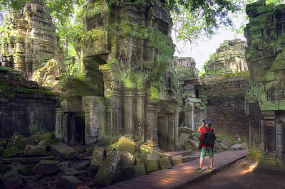 Photograph - Ta Prohm Temple Or Tom Rider Temple  by Anek Suwannaphoom