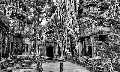 Photograph - Ta Prohm Temple Tomb Raider Angelina Jolie  by Chuck Kuhn