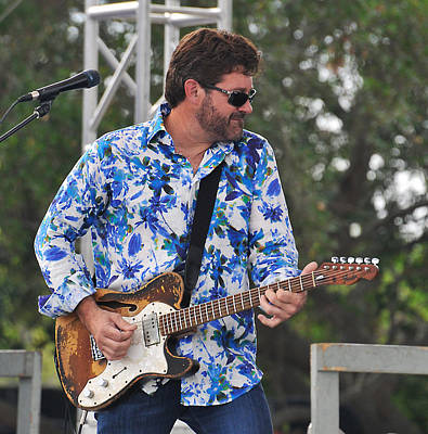 Photograph - Tab Benoit And 1972 Fender Telecaster by Ginger Wakem