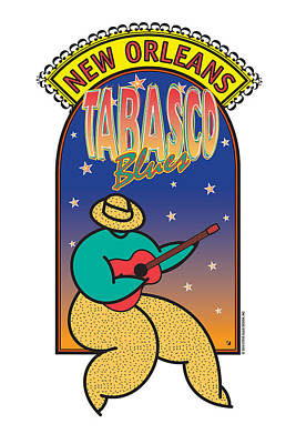 Digital Art - Tabasco Blues by Steve Ellis