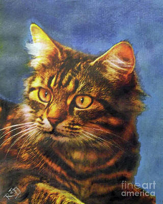 Painting - Tabby Blue by Richard James Digance