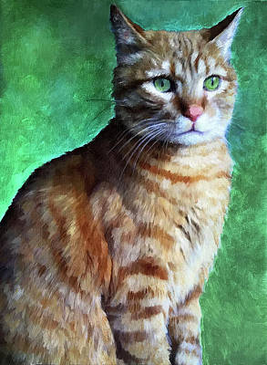 Painting - Tabby Cat by Enzie Shahmiri