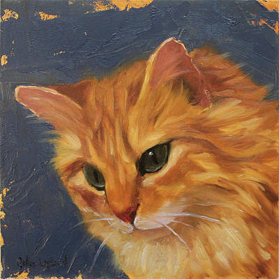 Painting - Tabby Cat by Gilles Lafond