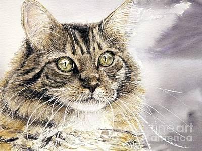 Tabby Cat Jellybean Art Print by Keran Sunaski Gilmore