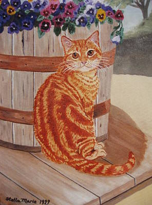 Painting - Tabby Cat by Stella Sherman