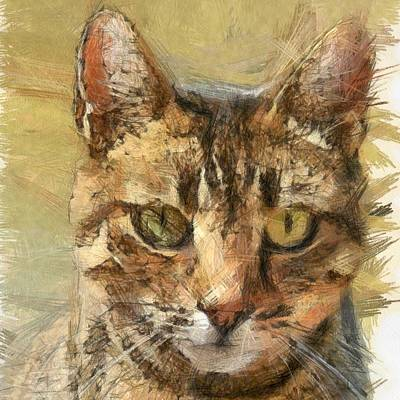 Painting - Tabby Cat by Tracey Harrington-Simpson