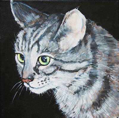 Painting - Tabby Cat by Yulia Kazansky