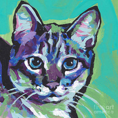 Kid Painting - Tabby Chic by Lea S