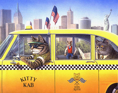 Painting - Tabby Kabby by Don Roth