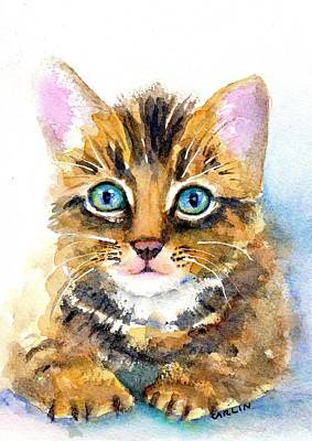 Painting - Tabby Kitten Watercolor by Carlin Blahnik