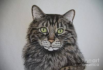 Wall Art - Painting - Tabby-lil' Bit by Megan Cohen