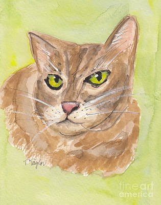 Painting - Tabby With Attitude by Terry Taylor