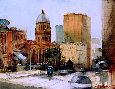 Painting - Tabernacle Baptist Church In Brisbane by Sof Georgiou