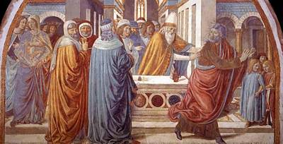 Painting - Tabernacle Of The Visitation Expultion Of Joachim From The Temple by Gozzoli Benozzo