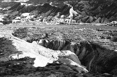 Photograph - Tabernas Desert Almeria Spain Monochrome by Marek Stepan