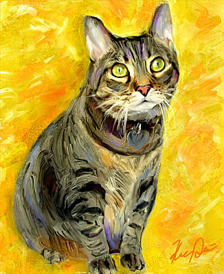 Tabbies Digital Art - Tabitha by Karen Derrico