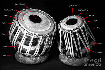 Photograph - Tabla Instrument With Details by Charuhas Images