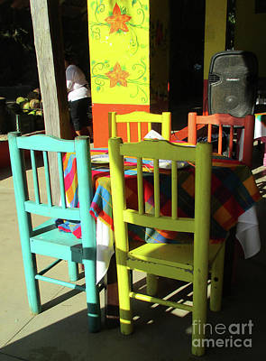 Photograph - Table And Chairs 1 by Randall Weidner