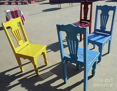 Photograph - Table And Chairs 2 by Randall Weidner
