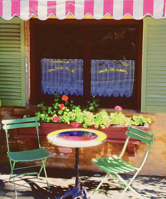 Napa Valley Digital Art - Table And Chairs by George Oze