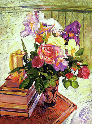Traditional Still Life Painting - Table Arrangement by David Lloyd Glover