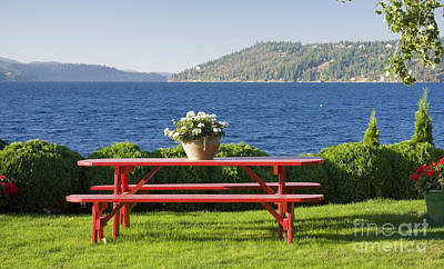 Photograph - Table By The Lake by Idaho Scenic Images Linda Lantzy