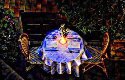 Photograph - Table For Two by Bill Howard