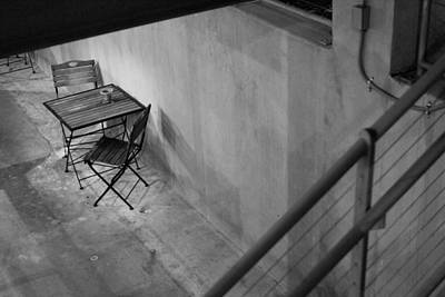 Photograph - Table For Two Black And White by Jill Reger