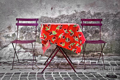 Table For Two Art Print by Delphimages Photo Creations