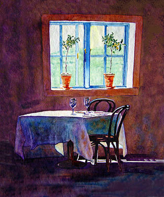 Table For Two Art Print by Gail Chandler