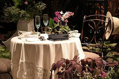 Photograph - Table For Two In The Garden by Living Color Photography Lorraine Lynch